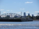Barge manuvering on Miss. River blocking our way