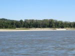Sand - not mud along the banks of the Miss. River