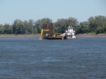 A dredge barge we passed today 10/8/13 after leaving Hoppie's