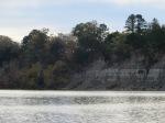 Tenn Tom  sand cliffs below Heflin Lock