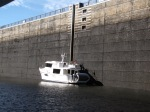 Jamie Whitten Lock & Dam with 84' drop.  Greatest lock rise or drop so far.  Met this & 3 other loopers as entered this lock.