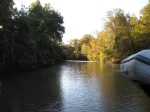 Bashe Creek mile 145. on Black Warior - Tombigbee River aft view no more than 60' wide