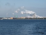 The paper/pulp mill east of Pensicola.
