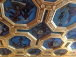 Ceiling of Ballroom depicting dancers from various countries