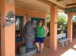 Lil was here!  Manatee museum @ Ft. Pierce, FL