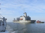 Warship entering Norfolk